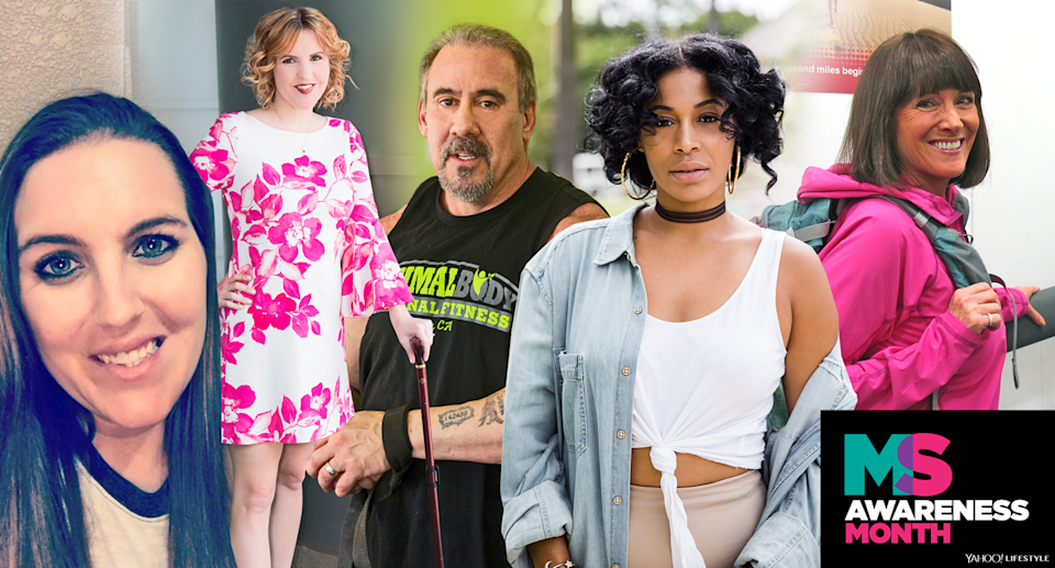 Ashley Ringstaff, Ardra Shephard, David Lyons, Victoria Reese, and Lori Schneider share how they practice self-care with MS. (Photo: Courtesy/Quinn Lemmers for Yahoo Lifestyle)