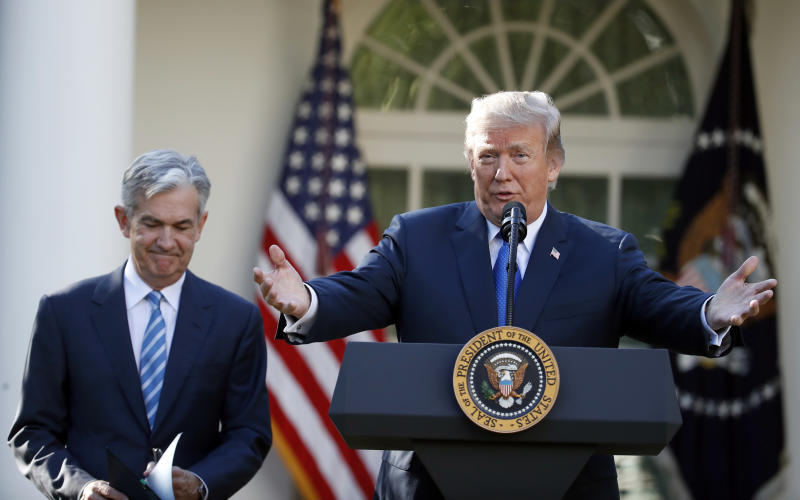 US President Trump calls the US Fed 'crazy', stock declines a 'correction'
