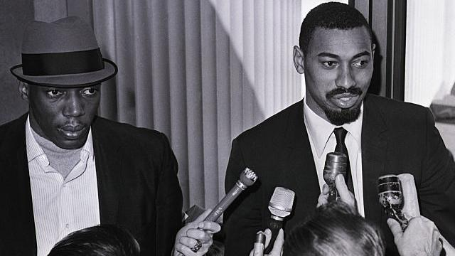 Wilt Chamberlain and Nate Thurmond were the original dual-big combo. (Getty Images)