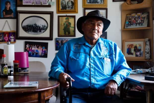 Felix Ashdohonk was 28 years old when he cast his vote in Saskatchewan's 1960 provincial election. It's believed he was the first person from a First Nation to do so in the province. (Bryan Eneas/CBC - image credit)