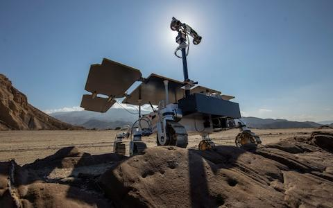 The ExoMars rover during testing in the Spanish desert - Credit: Geoff Pugh for the Telegraph