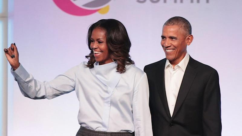 Barack and Michelle Obama Bust Out Adorably Cheesy Dance Moves On Her Book Tour -- Watch!