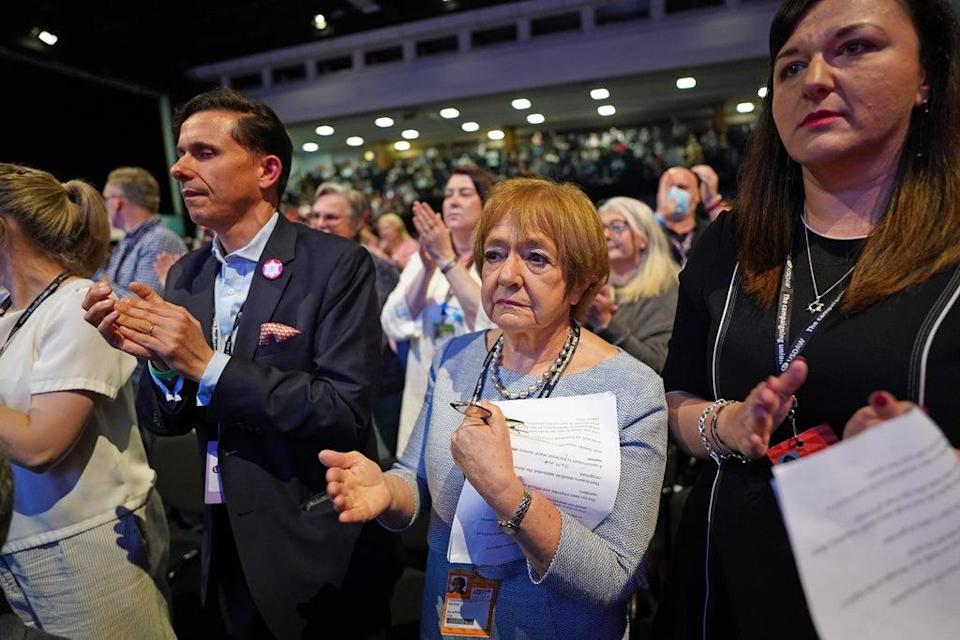 Dame Margaret Hodge (centre) during the Labour Party conference in Brighton (Stefan Rousseau/PA) (PA Wire)
