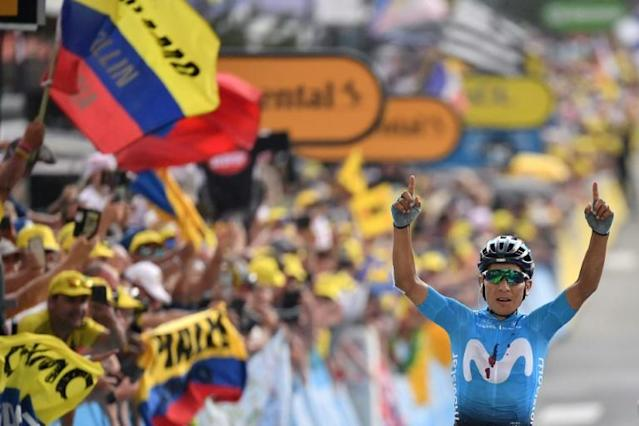 Colombia's Nairo Quintana won by minutes on stage 18 of the last Tour (AFP Photo/Marco Bertorello)