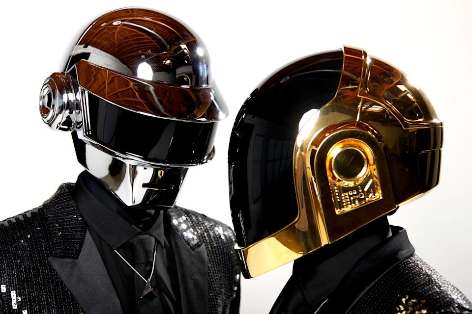 FILE - In this April 17, 2013 file photo, Thomas Bangalter, left, and Guy-Manuel de Homem-Christo, from the music group, Daft Punk, pose for a portrait in Los Angeles. The Grammy-winning French act have announced their break up. (Photo by Matt Sayles/Invision/AP, File)Matt Sayles/Invision/AP