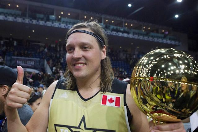 Arcade Fire's Win Butler won the All-Star Celebrity Game's MVP honor in 2016. (AP)