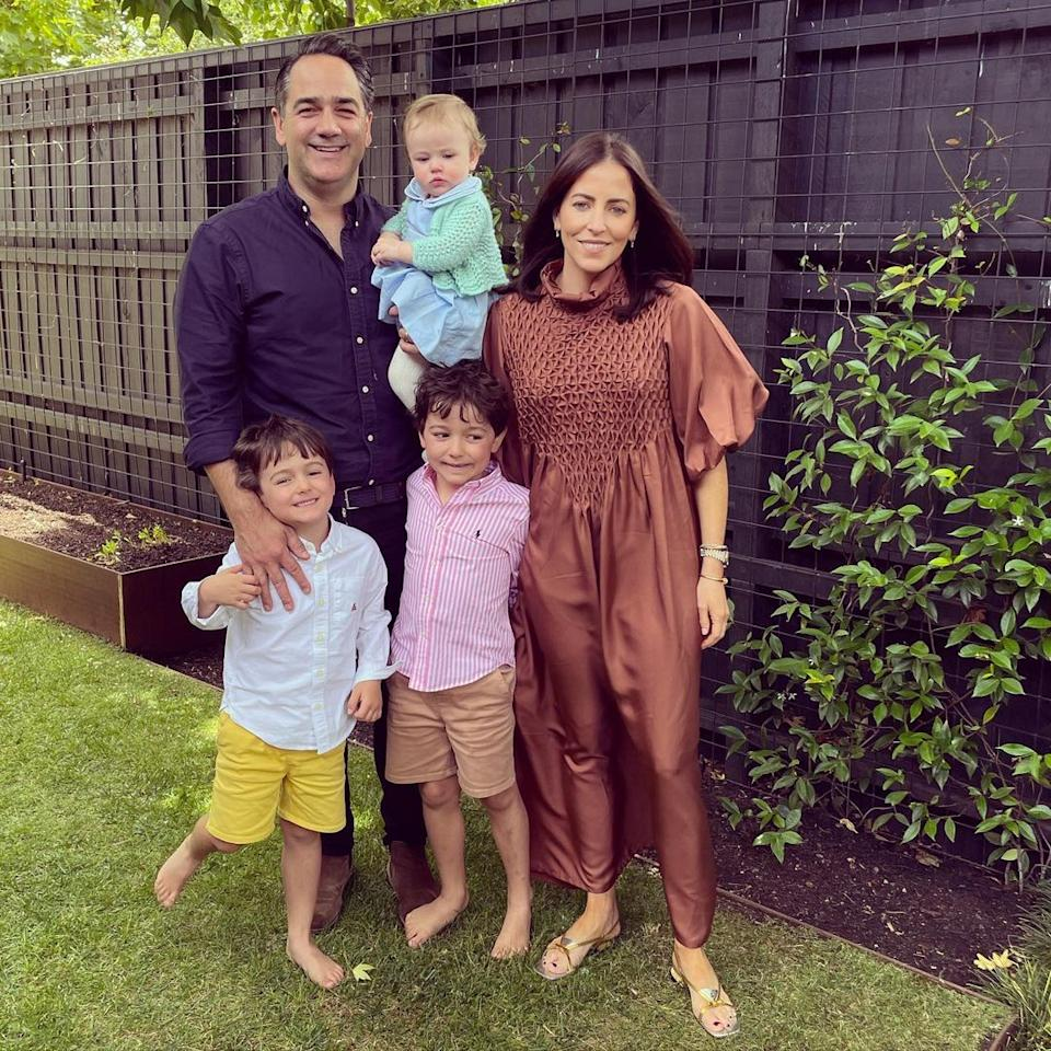 Nova 9.69 radio host Michael 'Wippa' Wipfli with his wife Lisa and their three children