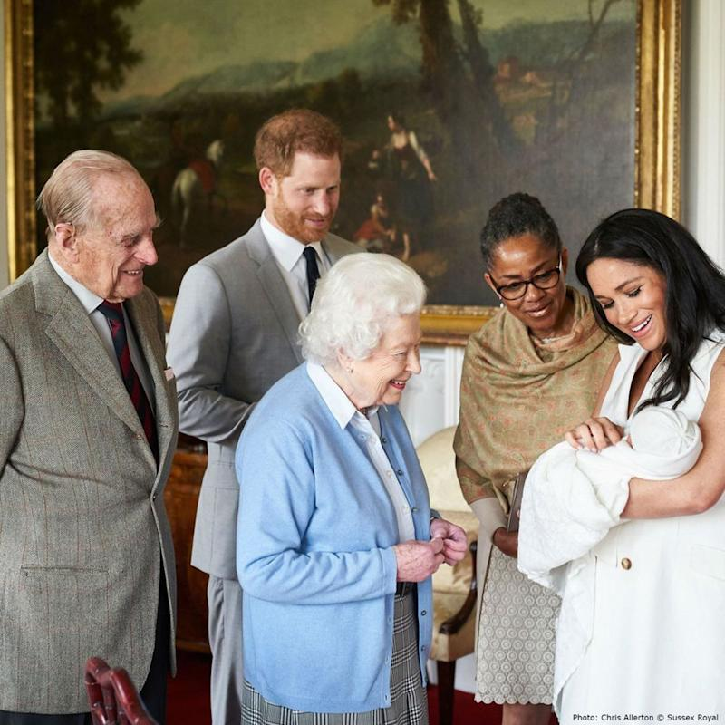 Prince Philip, Prince Harry, Queen Elizabeth, Doria Ragland, Meghan Markle and Archie | Chris Allerton/ ©️SussexRoyal
