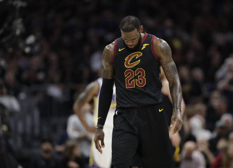 best authentic 457fa 5bdda NBA Finals: LeBron James walks into uncertain future