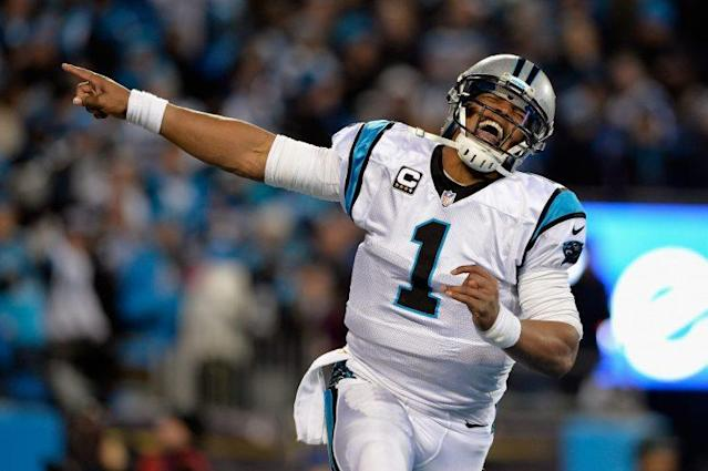 Cam Newton is on the way back. (Getty)