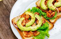 """<p>These open-faced sandwiches are easy to make and are absolutely irresistible during summer. Warm brioche bread is topped with lime-tossed shrimp, creamy avocado slices and spicy homemade chili mayonnaise.</p> <p><a href=""""https://www.thedailymeal.com/recipes/shrimp-sandwiches-chili-mayonnaise-recipe?referrer=yahoo&category=beauty_food&include_utm=1&utm_medium=referral&utm_source=yahoo&utm_campaign=feed"""" rel=""""nofollow noopener"""" target=""""_blank"""" data-ylk=""""slk:For the Shrimp Sandwiches With Chili Mayonnaise recipe, click here."""" class=""""link rapid-noclick-resp"""">For the Shrimp Sandwiches With Chili Mayonnaise recipe, click here.</a></p>"""
