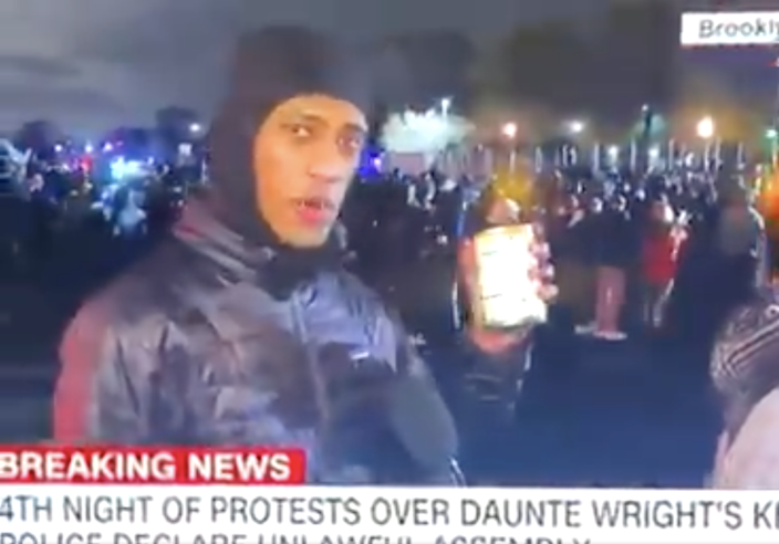 <p>A protester in Brooklyn Center, Minnesota tells CNN he brought 'soup for my family'</p> (CNN)