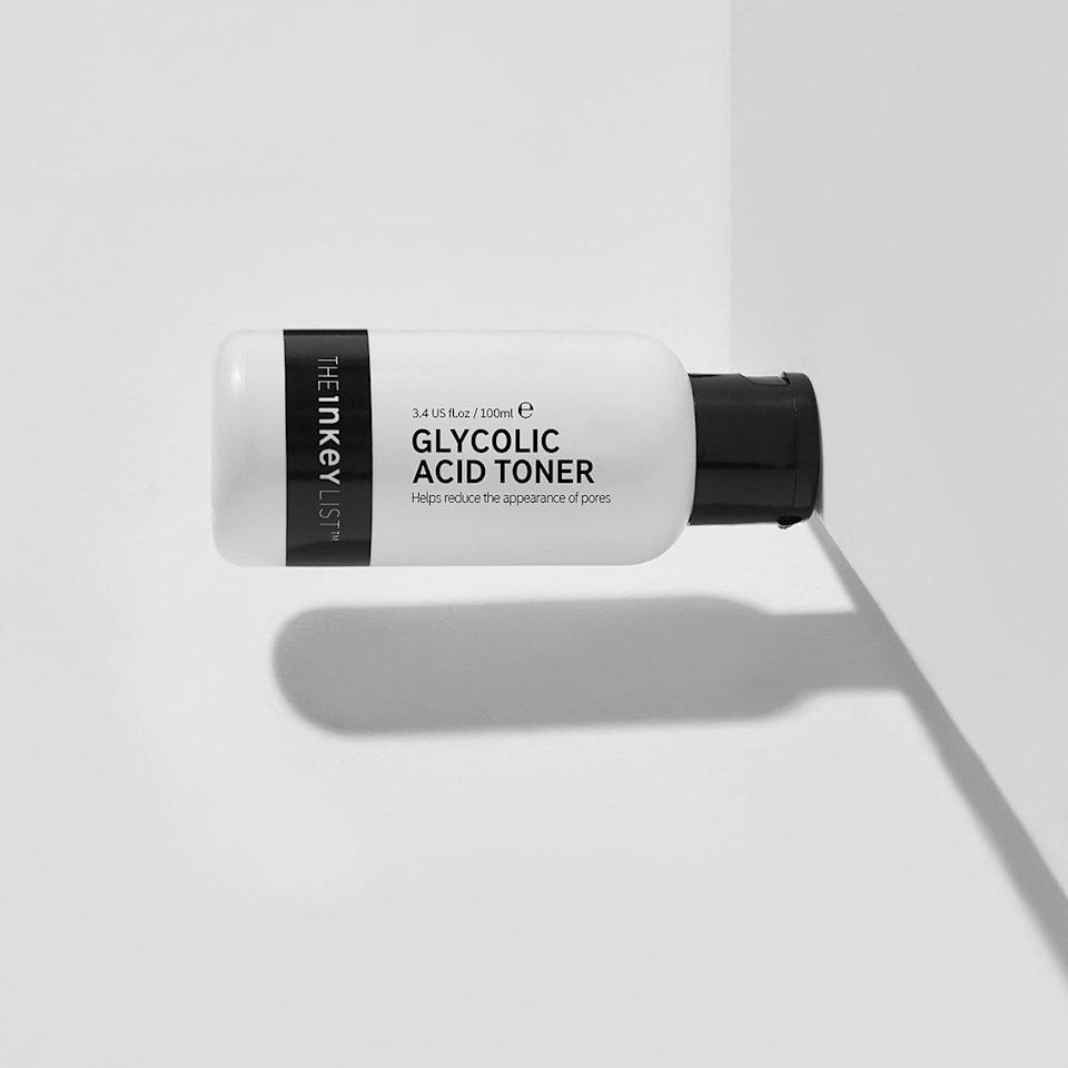 """The Glycolic Acid Toner features 10 percent of its star alpha hydroxy acid, <a href=""""https://www.allure.com/gallery/what-you-didnt-know-about-lactic-salicylic-citric-glycolic-acid-creams?mbid=synd_yahoo_rss"""" rel=""""nofollow noopener"""" target=""""_blank"""" data-ylk=""""slk:glycolic acid"""" class=""""link rapid-noclick-resp"""">glycolic acid</a>, to minimize the look of pores and fine lines. It also has <a href=""""https://www.allure.com/story/witch-hazel-skin-care-uses?mbid=synd_yahoo_rss"""" rel=""""nofollow noopener"""" target=""""_blank"""" data-ylk=""""slk:witch hazel"""" class=""""link rapid-noclick-resp"""">witch hazel</a> to help control excess oil. After just one use, you'll notice smoother, brighter skin. $11, Sephora. <a href=""""https://shop-links.co/1736506078026938057"""" rel=""""nofollow noopener"""" target=""""_blank"""" data-ylk=""""slk:Get it now!"""" class=""""link rapid-noclick-resp"""">Get it now!</a>"""