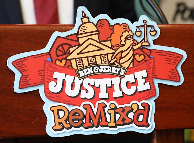 Ben & Jerry's announced a new flavor, Justice Remix'd, at a press conference September 03, 2019 in Washington, DC. (Photo by Win McNamee/Getty Images)