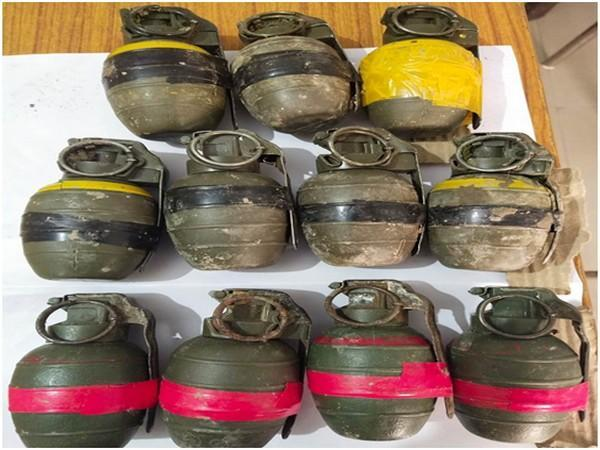 A visual of the grenades seized by Punjab Police.