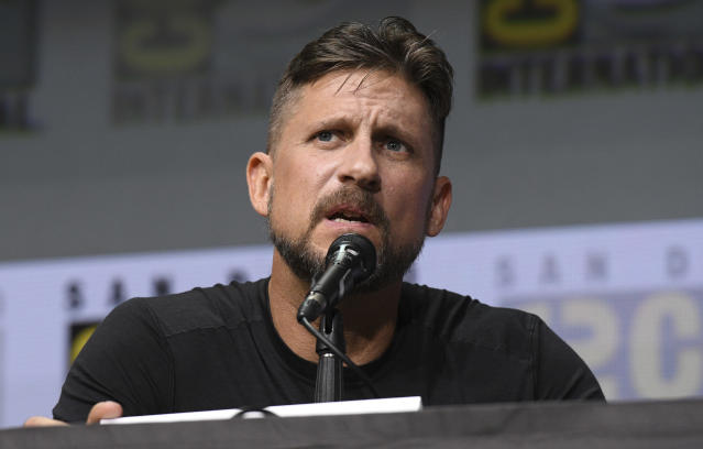 "David Ayer speaks at the Netflix Films' ""Bright"" panel on day one of Comic-Con International on Thursday, July 20, 2017, in San Diego. (Photo by Al Powers/Invision/AP)"