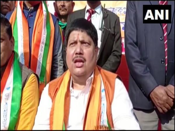 BJP MP Arjun Singh during a press conference on Sunday. (Photo/ANI)