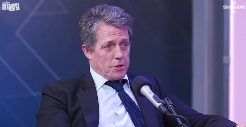 Hugh Grant during an interview on SiriusXM.