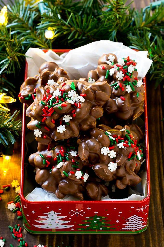 """<p>Delicious Christmas candy made in the convenience of your <a href=""""https://www.amazon.com/Crock-Pot-SCV700SS-Stainless-7-Quart-Manual/dp/B003OAJGJO?tag=syn-yahoo-20&ascsubtag=%5Bartid%7C10050.g.2759%5Bsrc%7Cyahoo-us"""" rel=""""nofollow noopener"""" target=""""_blank"""" data-ylk=""""slk:Crock Pot"""" class=""""link rapid-noclick-resp"""">Crock Pot</a>? It doesn't get any easier than this!</p><p><strong>Get the recipe at <a href=""""https://www.dinneratthezoo.com/crock-pot-candy/"""" rel=""""nofollow noopener"""" target=""""_blank"""" data-ylk=""""slk:Dinner at the Zoo"""" class=""""link rapid-noclick-resp"""">Dinner at the Zoo</a>.</strong> </p>"""