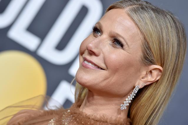 Gwyneth Paltrow at the Golden Globes in January. (Getty Images)