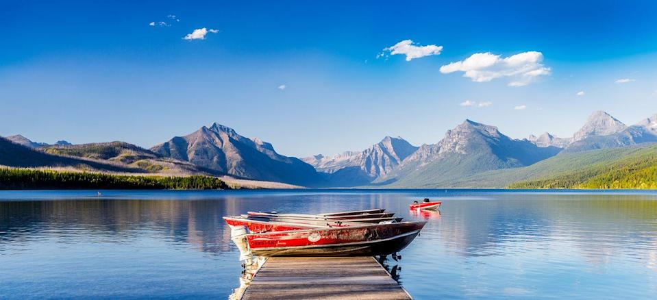 <p><strong>Lake McDonald</strong> is the largest of the many glacier lakes in Glacier National Park in Montana. The lake was formed by Ice Age glaciers carving out the basin millions of years ago.</p>