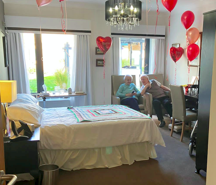 Betty and Kenneth Meredith are now sharing a room at the care home. (SWNS)