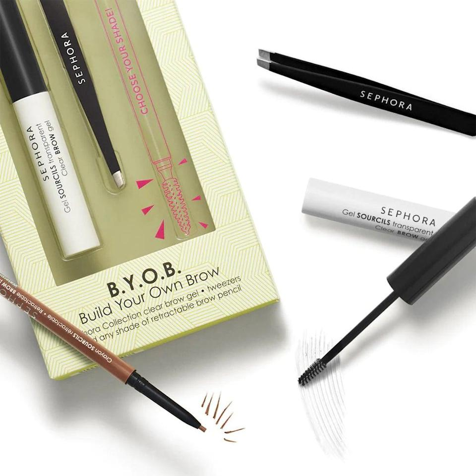 <p>Create the perfect brow with this <span>Sephora Collection BYOB Build Your Own Brow Customizable Set</span> ($16). It comes with a clear brow gel, tweezers, and your choice of a retractable brow pencil.</p>