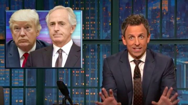 Seth Meyers Slams GOP For Being Engulfed In A Civil War Of Its Own Making