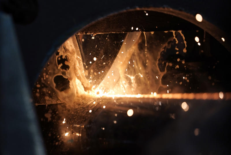 FILE - In this June 5, 2018, file photo, steel is forged to make a pipe at the Borusan Mannesmann Pipe manufacturing facility in Baytown, Texas. Hundreds of companies have been granted permission to import millions of tons of steel made in China, Japan and other countries without paying the hefty tariff Trump put in place. (AP Photo/David J. Phillip, File)