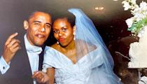 """<p>Michelle <a href=""""https://www.instagram.com/p/BjHhl_lgrQN/?utm_source=ig_embed"""" rel=""""nofollow noopener"""" target=""""_blank"""" data-ylk=""""slk:wrote of her husband and their wedding day on Instagram"""" class=""""link rapid-noclick-resp"""">wrote of her husband and their wedding day on Instagram</a>, """"You can't tell it from this photo, but Barack woke up on our wedding day in October, 1992 with a nasty head cold. Somehow, by the time I met him at the altar, it had miraculously disappeared and we ended up dancing almost all night. Twenty five years later, we're still having fun, while also doing the hard work to build our partnership and support each other as individuals. I can't imagine going on this wild ride with anybody else."""" </p>"""