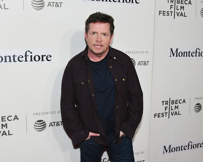 Michael J Fox has been living with Parkinson's since 1991, pictured in April 2019 in New York. (Getty Images)