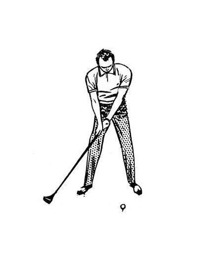 "Begin every swing smoothly and without breaking your wrists. You have to take it straight back ""in one piece,"" as they say. Strive to do this for the first 12 inches the clubhead moves, and you've got the swing practically licked. Starting the club in this way gets your whole body into the act, from feet to shoulders."