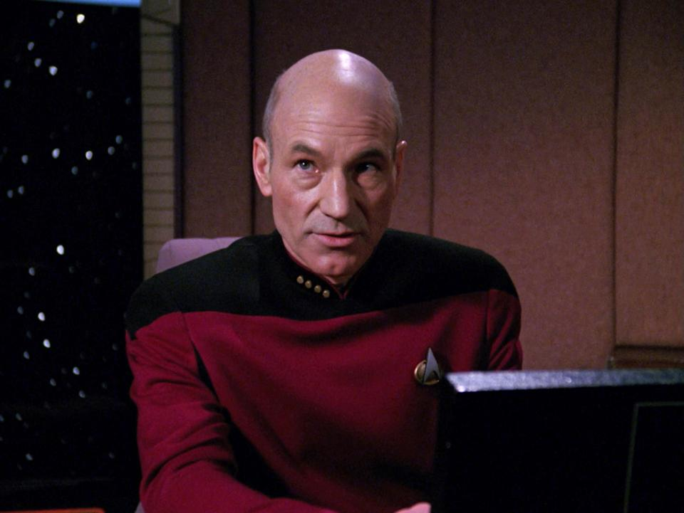 Patrick Stewart as Captain Jean-Luc Picard in Star Trek: The Next Generation (CBS via Getty Images)