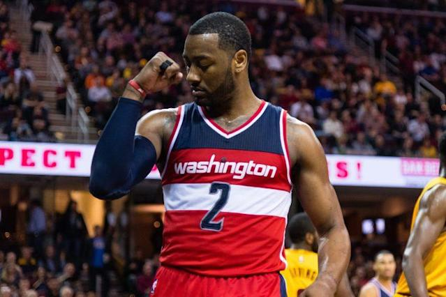 """The Wizards think <a class=""""link rapid-noclick-resp"""" href=""""/nba/players/4716/"""" data-ylk=""""slk:John Wall"""">John Wall</a> will sign a long-term extension. (Getty)"""