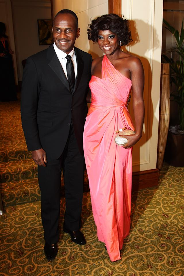 LONDON, ENGLAND - FEBRUARY 12:  (UK TABLOID NEWSPAPERS OUT) Viola Davis attends The Orange British Academy Film Awards 2012 afterparty at The Grosvenor House Hotel on February 12, 2012 in London, England.  (Photo by Dave Hogan/Getty Images)