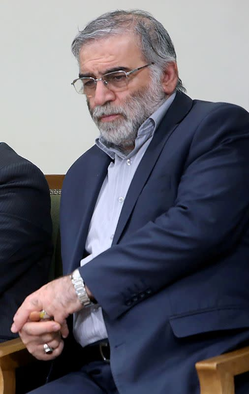 FILE PHOTO: Prominent Iranian scientist Mohsen Fakhrizadeh is seen in Iran