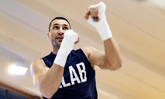 "<span class=""element-image__caption"">Wladimir Klitschko says: 'We live in a crazy world, so in such a violent sport as boxing, there has to be respect.'</span> <span class=""element-image__credit"">Photograph: Johann Groder/AFP/Getty Images</span>"