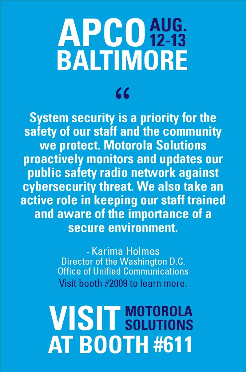 Motorola Solutions Introduces New Mission Critical Security Solutions
