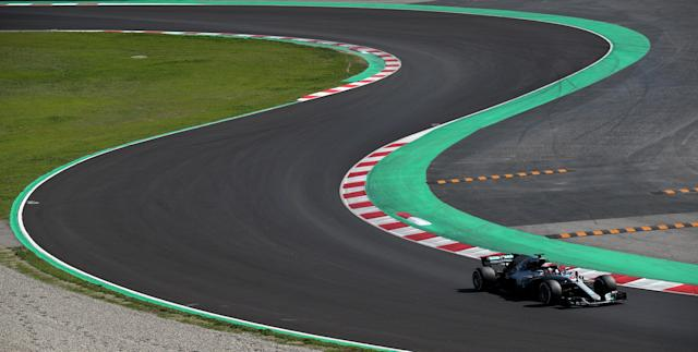 Motor Racing - F1 Formula One - Formula One Test Session - Circuit de Barcelona-Catalunya, Montmelo, Spain - March 9, 2018 Lewis Hamilton of Mercedes during testing REUTERS/Albert Gea TPX IMAGES OF THE DAY