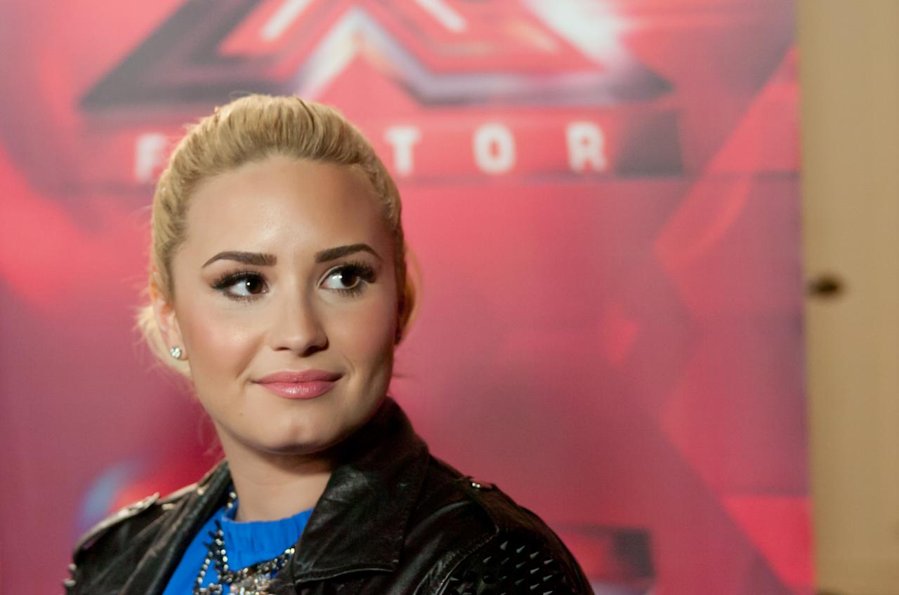 "UNIONDALE, NY - JUNE 20:  Demi Lovato attends the ""The X Factor"" Judges press conference at Nassau Veterans Memorial Coliseum on June 20, 2013 in Uniondale, New York.  (Photo by Steven A Henry/WireImage)"