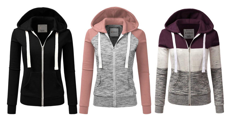 Doublju Lightweight Thin Zip-Up Hoodie Jacket  (Photo: Amazon)