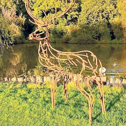 This Watchful Stag in welded steel, £3,550