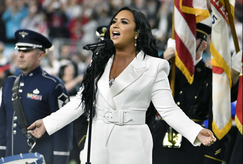 Demi Lovato expresses her political views in latest song 'Commander in Chief.' (Photo: Focus on Sport/Getty Images)