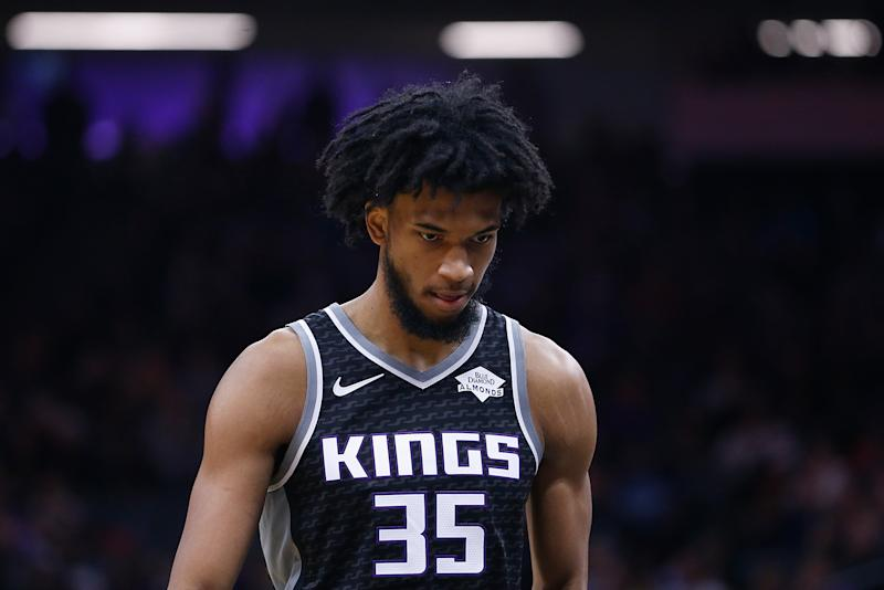 Kings forward Marvin Bagley III will miss extended time once again, this time with a sprained left foot. (Lachlan Cunningham/Getty Images)