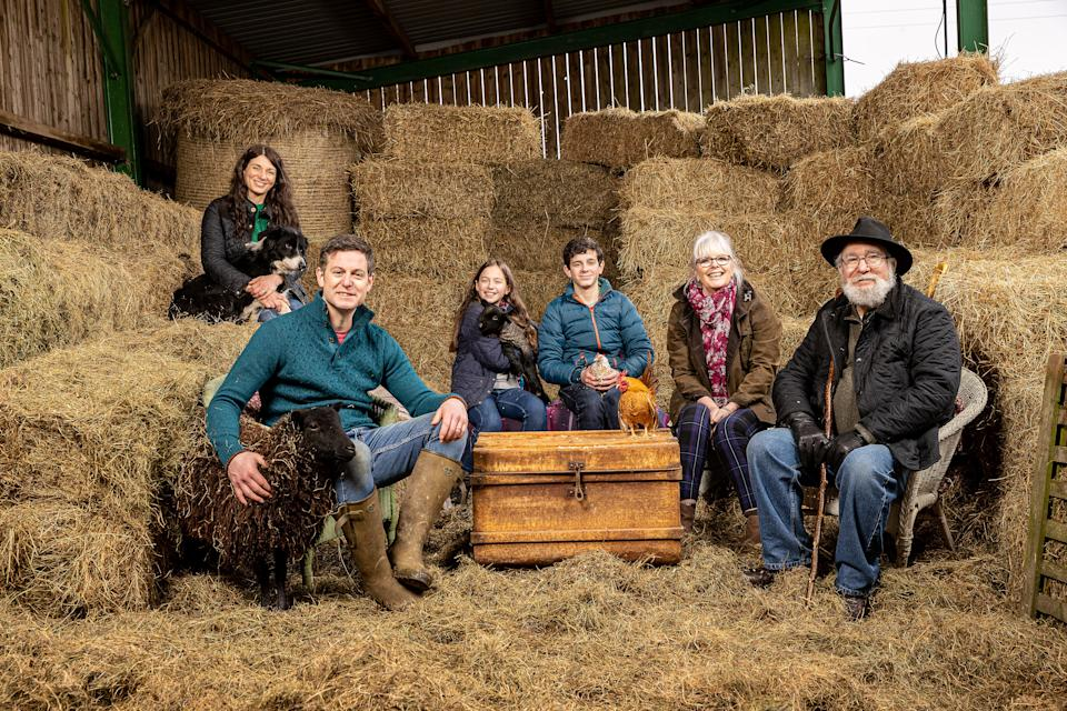 Matt Baker's family have documented their new life in 'Our Farm In The Dales'. (Channel 4)