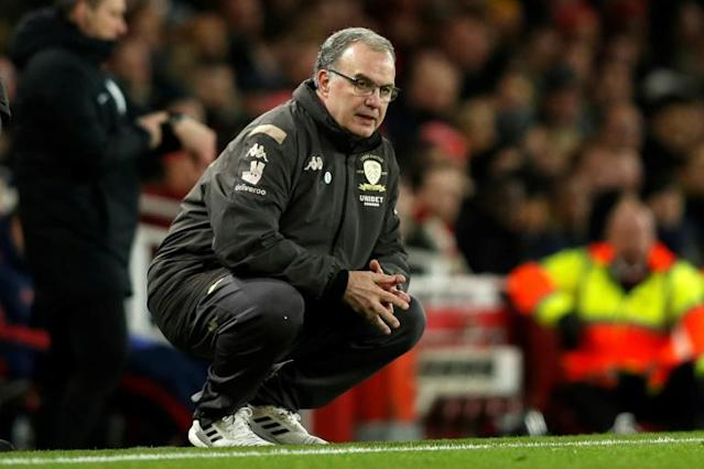 Leeds manager Marcelo Bielsa has taken his team to the brink of the Premier League (AFP Photo/Adrian DENNIS)
