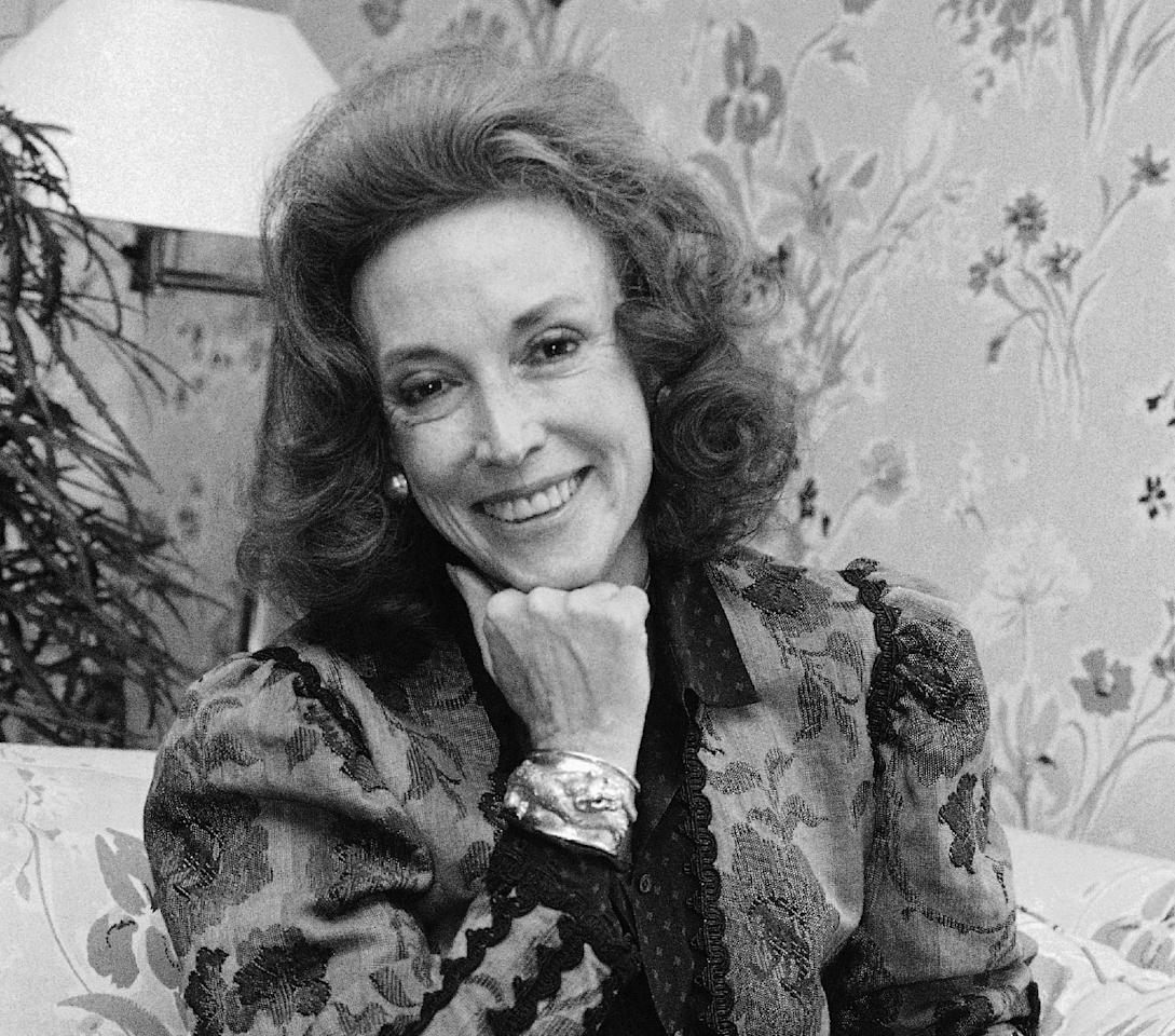 FILE - In this Sept. 20, 1982 file photo, Cosmopolitan editor Helen Gurley Brown poses during an interview at her office in New York. Brown, longtime editor of Cosmopolitan magazine, died Monday, Aug. 13, 2012 at a hospital in New York after a brief hospitalization. She was 90. (AP Photo/Marty Lederhandler, File)