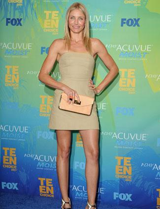 """<div class=""""caption-credit""""> Photo by: Getty</div><div class=""""caption-title""""></div><b>Cameron Diaz, 40</b> <br> Her toned arms and rock hard abs make it easy to forget that Cameron Diaz just celebrated her 40th birthday. Thankfully we know it isn't just good genes. The actress told Bazaar, """"Exercise for me is like eating, sleeping, and breathing. I'm consistent, and when I'm not consistent, it shows up on my body."""" <br>"""