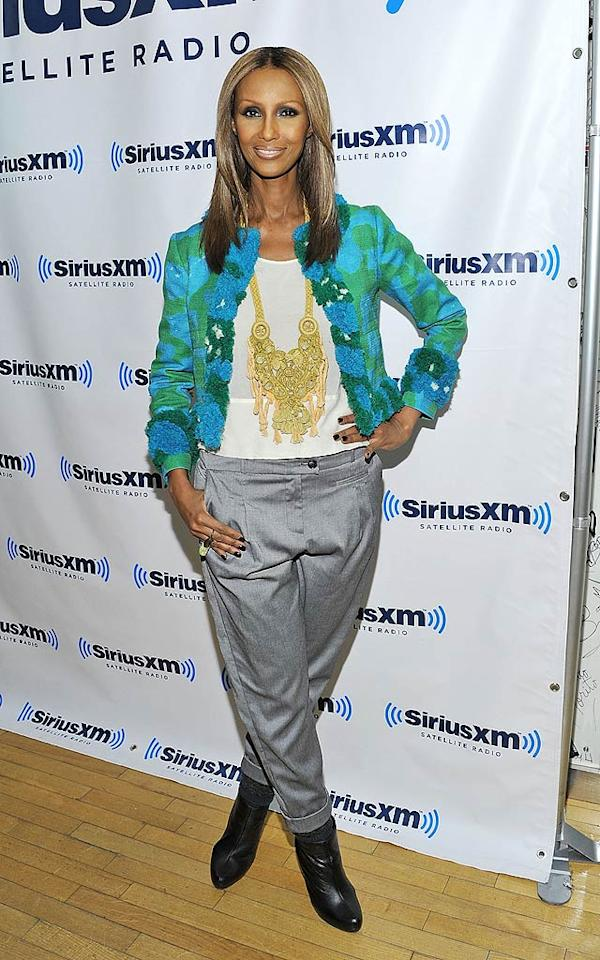 "55-year-old Somali supermodel Iman ... hot. Her shapeless suit pants (and her reality series, ""The Fashion Show"") ... not. Mike Coppola/<a href=""http://www.gettyimages.com/"" target=""new"">GettyImages.com</a> - January 25, 2011"