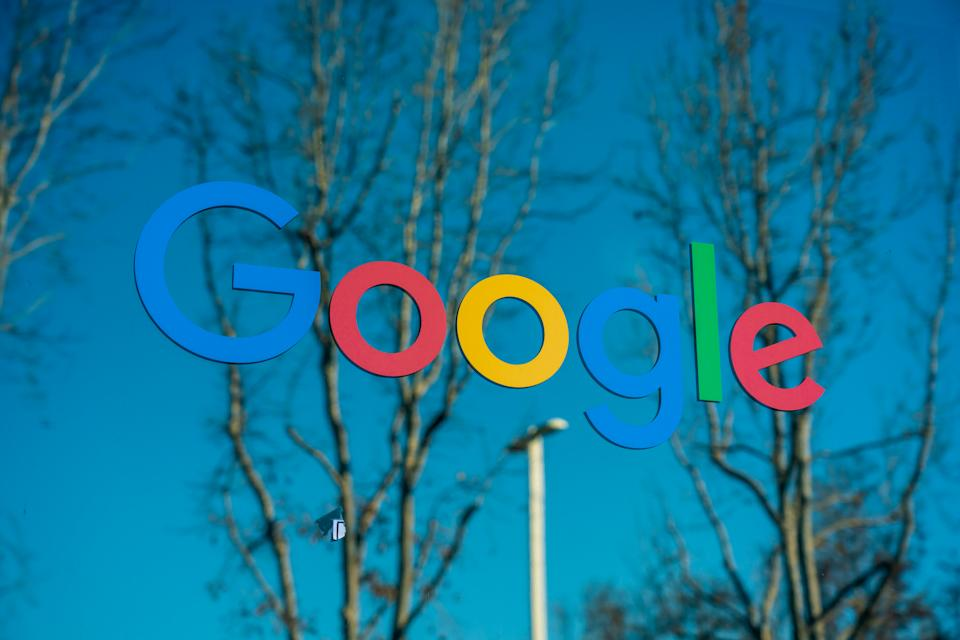 MOUNTAIN VIEW, UNITED STATES - 2020/02/23: American multinational technology company Google logo seen at Google campus. (Photo by Alex Tai/SOPA Images/LightRocket via Getty Images)
